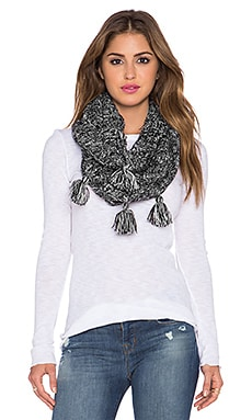 Michael Stars Wild & Fringe Eternity Scarf in Black