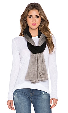 Michael Stars Softest Ombre Scarf in Black