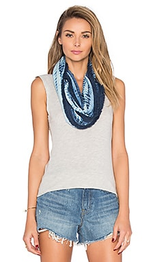 Michael Stars Feather Fringe Eternity Scarf in Nocturnal