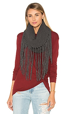 Fringed Out Cowl Scarf in Heather Oxide