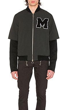 Layered Varsity Jacket