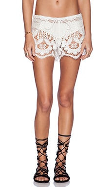 Miguelina Minnie Shorts in White
