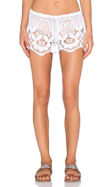Miguelina Minnie Shorts in Pure White