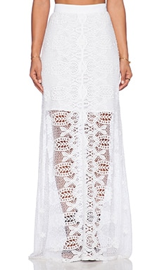 Miguelina Nala Maxi Skirt in White