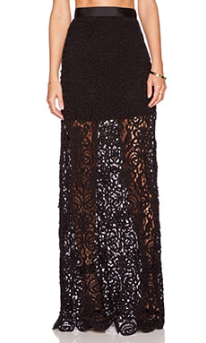 Miguelina Celine Maxi Skirt in Black