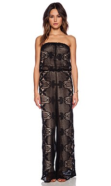 Miguelina Piper Lined Jumpsuit in Black