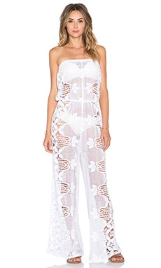 Miguelina Piper Jumpsuit in Pure White