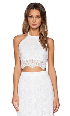 Miguelina Mari Top in White