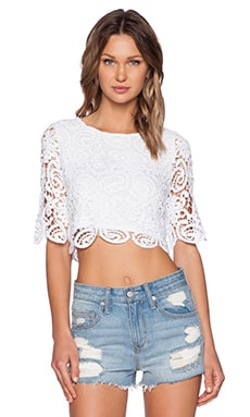 Miguelina Lou Top in White