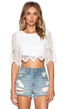 Miguelina Lou Top in Pure White