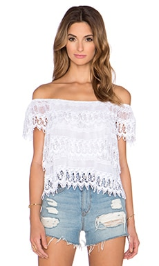 Miguelina Angie Top in Pure White