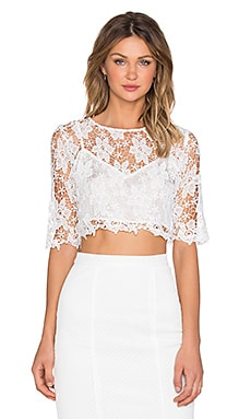 Miguelina Laurel Top in White