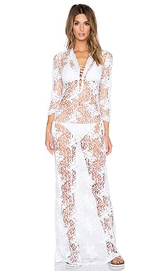 Miguelina Lola Cover Up in Pure White