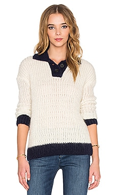 M.i.h Jeans Nautical Sweater in Cream & Navy