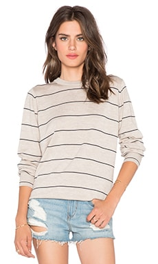 MiH Jeans Falls Sweater in Flax & Navy