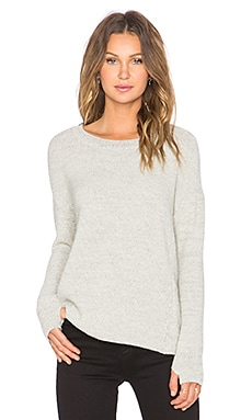 MiH Jeans Delmar Sweater in Cream & Grey Twist