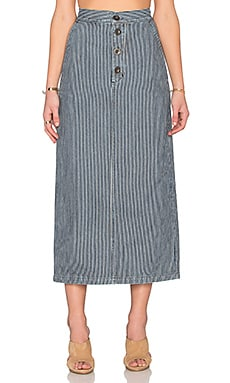 M.i.h Jeans Malo Skirt in Indigo Stripe