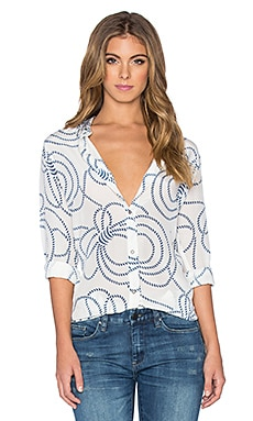 M.i.h Jeans Simple Shirt in Rope Print Salty Blue