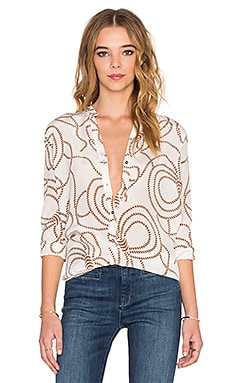 M.i.h Jeans Surf Shirt in Rope Print Toffee