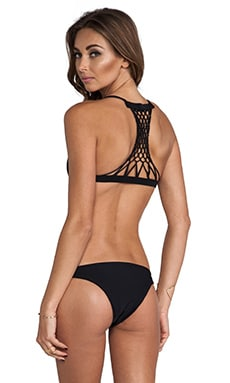Maui Crocheted Racer Back Top en Night