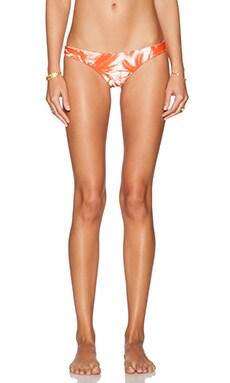 MIKOH Lahaina Extra Skimpy Bikini Bottom in Polynesian Palm Persimmon