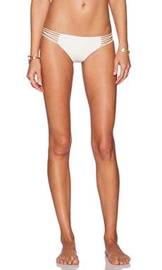MIKOH Kapalua Multi Skinny String Side Bikini Bottom in Bone