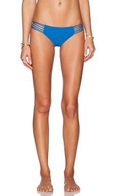 MIKOH Kapalua Multi Skinny String Bikini Bottom in Azul