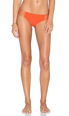MIKOH Kapalua Multi Skinny String Bikini Bottom in Persimmon