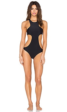 MIKOH Osaka Cutout Racerback Swimsuit in Night