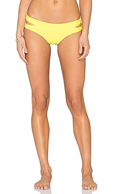 MIKOH Puka Puka Cut Out Bikini Bottom in Lilikoi