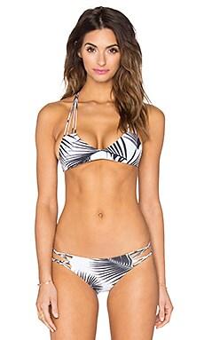 MIKOH Banyans Multi String Racerback Bikini Top in Palm Leaf