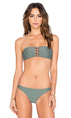 Monaco Knot Bandeau in Army