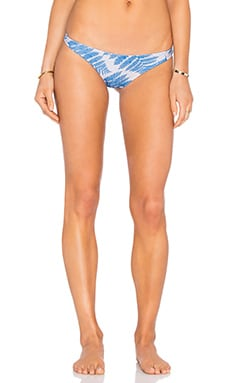 Miyako Bikini Bottom in Blue Fern Hawaii