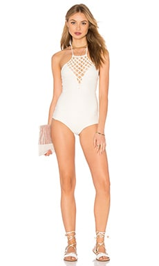 Avalon Halter One Piece in Bone