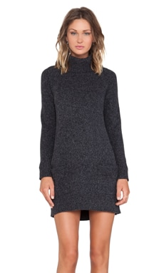 MILLY Heathered Pocket Dress in Black