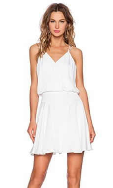 Silk Crepe Tank Dress in White