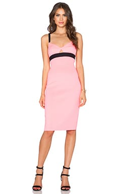 MILLY Tech Cut Out Bralette Dress in Fluo Candy