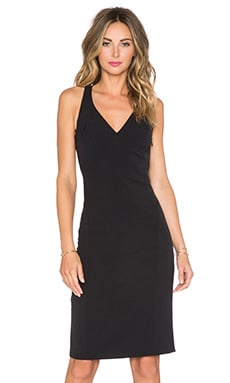 MILLY Cady Angular Dress in Black