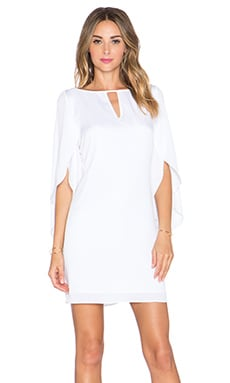 MILLY Butterfly Cut Out Dress in White
