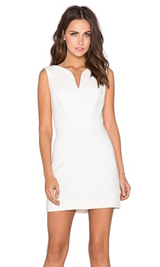 MILLY Weaved Mini Dress in White