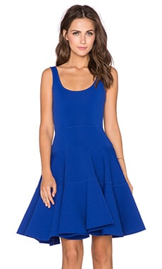 MILLY Dalhia Fit & Flare Dress in Cobalt