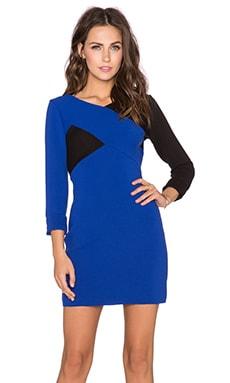 MILLY Chevron Long Sleeve Dress in Cobalt