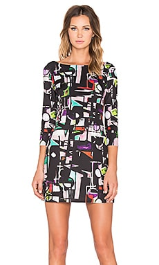 MILLY Taylor Cubist Print Dress in Multi