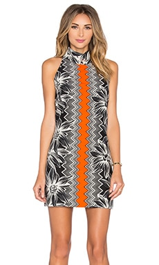 MILLY Meagan Tropical Jacquard Dress in Multi
