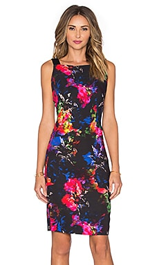 MILLY Lou Lou Jewel Floral Print Dress in Multi