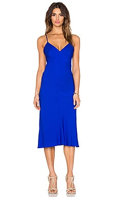 Silk Bias Dress in Sapphire