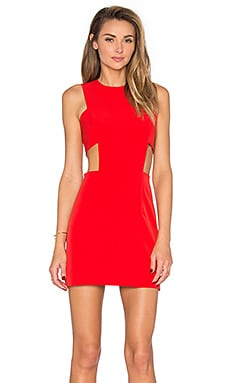 MILLY Cutout Tank Dress in Tomato