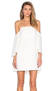 Mila Off the Shoulder Dress en Blanc