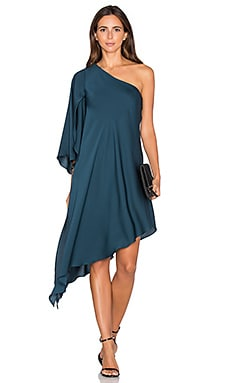 Tori One Shoulder Dress en Bleu Paon