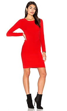 Angled Ottoman Sheath Dress in Red